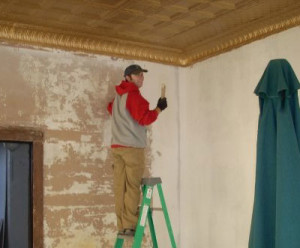 Dave painting ceiling in 2016