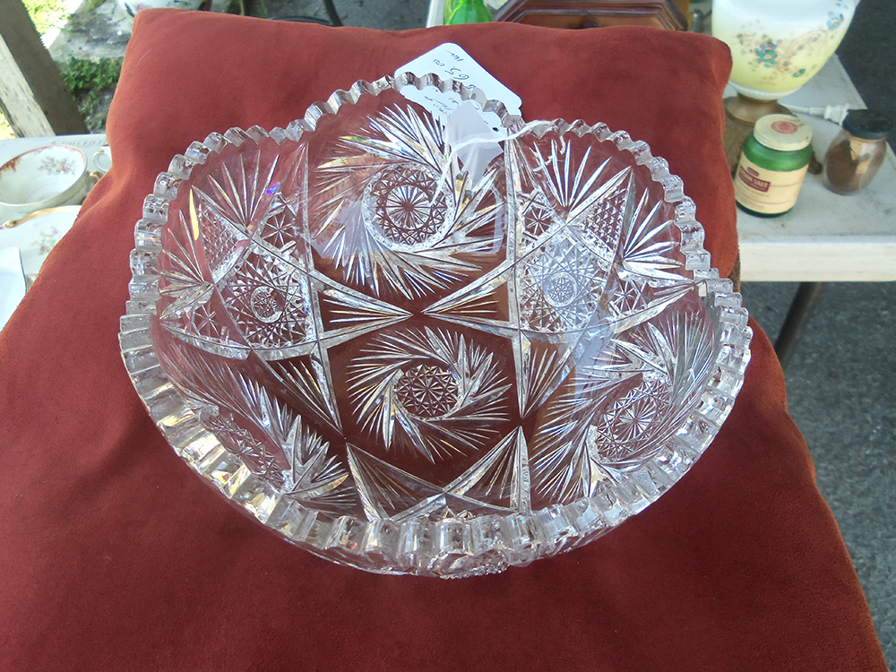 American brilliant period cut glass bowl old nottoway How can i cut glass at home