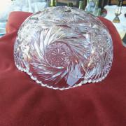 American Brilliant period cut glass bowl - bottom
