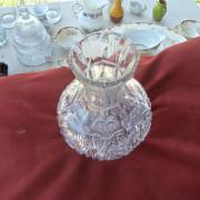 American Brilliant period cut glass decanter - Above