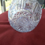 American Brilliant period cut glass decanter - Closeup