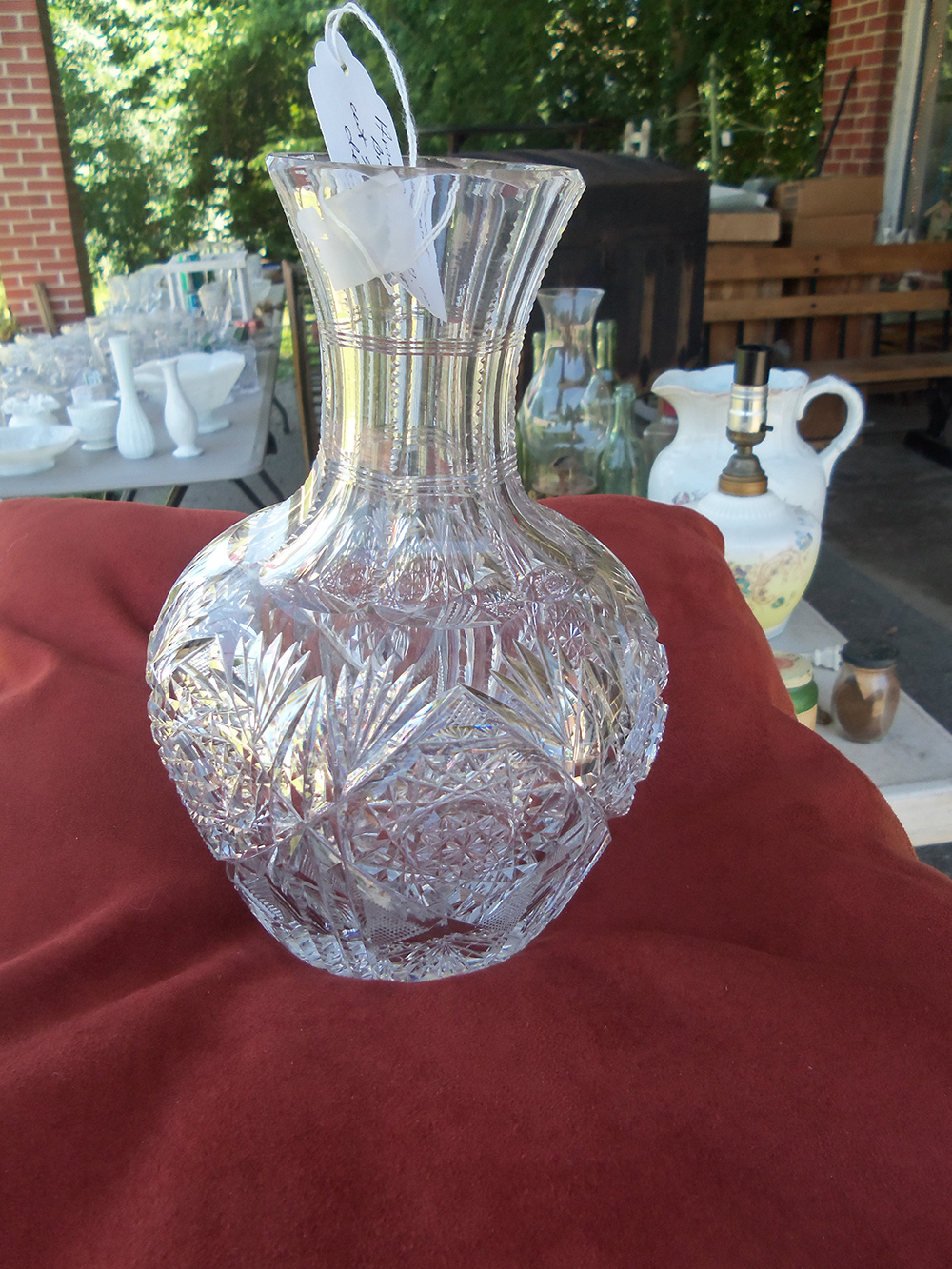American brilliant period cut glass decanter old How can i cut glass at home