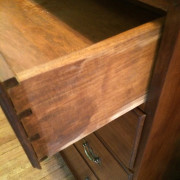 Handmade Solid Cherry Chest - Closeup View