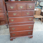 Mahogany 3 Drawer Top Chest - Front