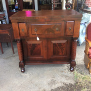 CA 1820 Cherry, Flame Mahogany Butler's Cabinet - Front