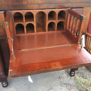 CA 1820 Cherry, Flame Mahogany Butler's Cabinet - Open Front