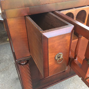 CA 1820 Cherry, Flame Mahogany Butler's Cabinet - Open Left Drawer