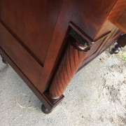 CA 1820 Cherry, Flame Mahogany Butler's Cabinet - Left Side