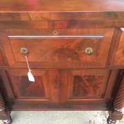 CA 1820 Cherry, Flame Mahogany Butler's Cabinet - Detail Front