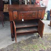CA 1820 Cherry, Flame Mahogany Butler's Cabinet - Open Doors Front