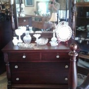 1910 Mahogany Bedroom Suite - lowboy