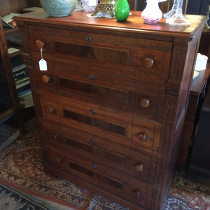 1880's Walnut Victorian Chest - front