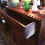 1880's Walnut Victorian Chest - open drawer